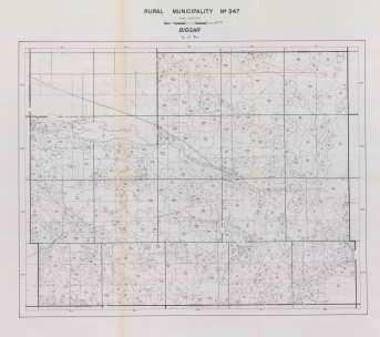 Map 347.Rural Municipality Of Biggar Number 347