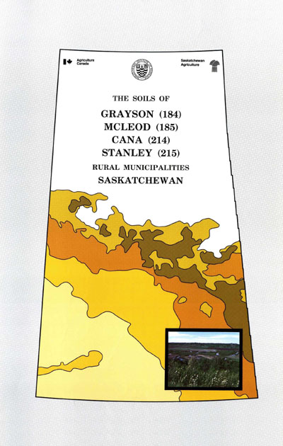 View the The Soils of Grayson, McLeod, Cana and Stanley Rural Municipalities Nos. 184, 185, 214, 215 (PDF Format)