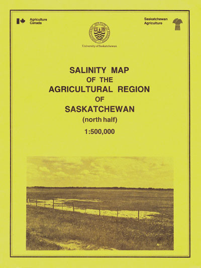 View the Salinity Map of the Agricultural Region of Saskatchewan (North Half) (PDF Format)